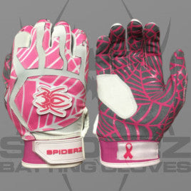 Spiderz Batting Gloves-Pink/White