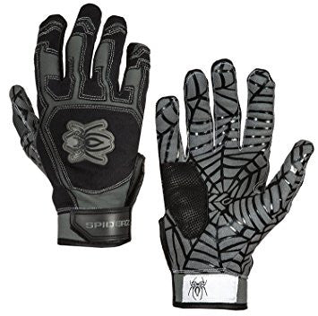 Spiderz Batting Gloves-Black/Grey
