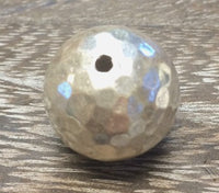 BB004-Hammered Hill tribe silver round ball