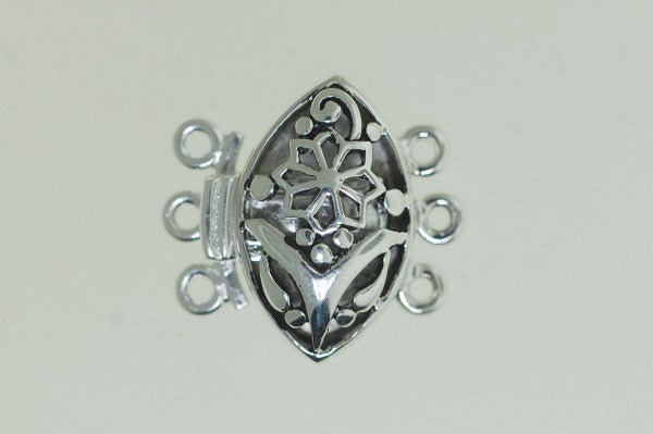 Boxs14 Sterling Silver Oval Box Clasp