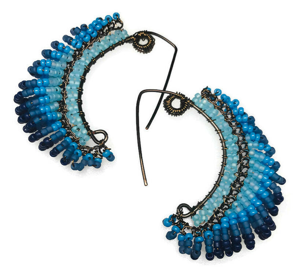 Colorful Swoop Earring By Melody MacDuffee Sat. Jan 12 ( 11 am-2 pm)