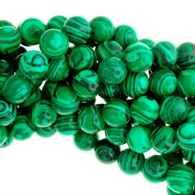 Emerald Man-made Malachite Beads