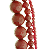 Faceted Dyed Jade Beads