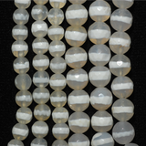 White Faceted Agate