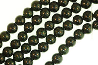 8 mm Sun Stone -  3 Colors Available, Gold, Green, Blue