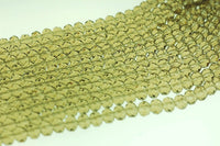 Green Gray Crystal beads -  6x4 mm cyrstal 12 strands for $7