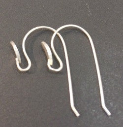 EW5- Sterling silver ear wire with design. Price per 5 pairs.