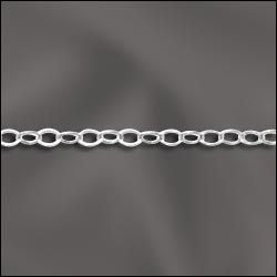 Sterling Silver Fine Flat Cable Chain - By The Foot