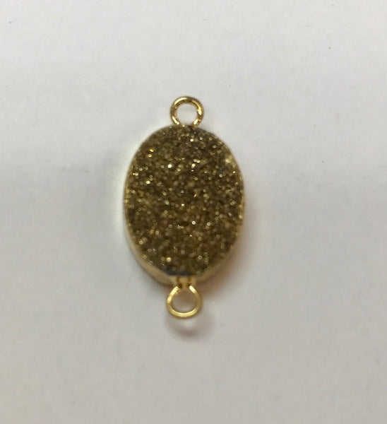 Druzy Gold Connector