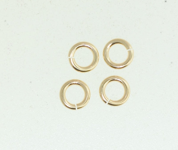 6 mm Gold Filled jump ring. Open Or Closed jump ring.