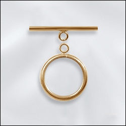 Gold Filled Toggle - Round toggle