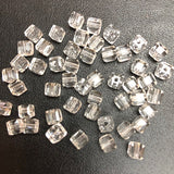 Cube Shape Clear White Crystal beads -  4x5 mm cyrstal 12 strands for $7