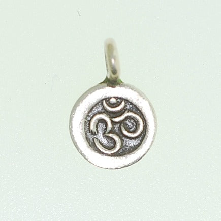 Hill Tribe silver Om Charm
