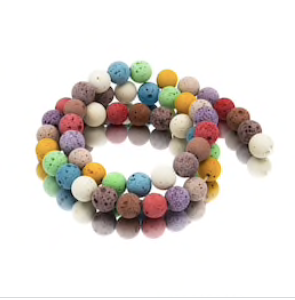 8 mm mixed color Lava Beads
