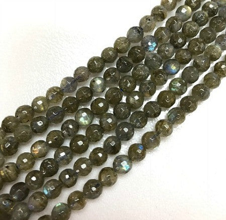 Faceted Labradorite 6 mm