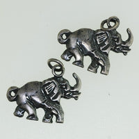 Hill Tribe silver Elephant Charm - Good Luck Elephant