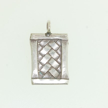 Hill Silver Charm - Rectangle Woven