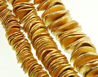 gold wavy spacer beads