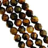 Natural Faceted Tiger Eye Beads