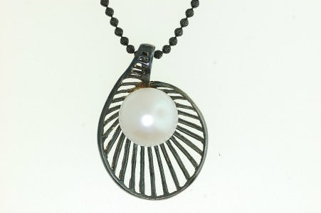 Pearl Shell Pendant - Sterling Silver Pearl