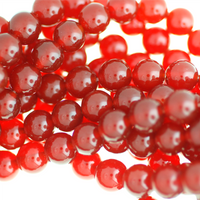 Natural Red Carnelian Beads-Smooth Round