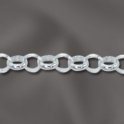 Sterling Silver Rolo Chain - By The Foot