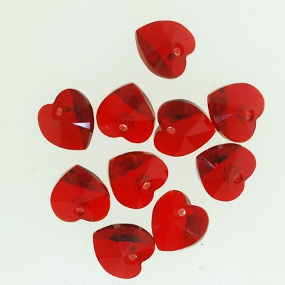 Swarovski Heart Charms - Red or White 10 pieces for $10