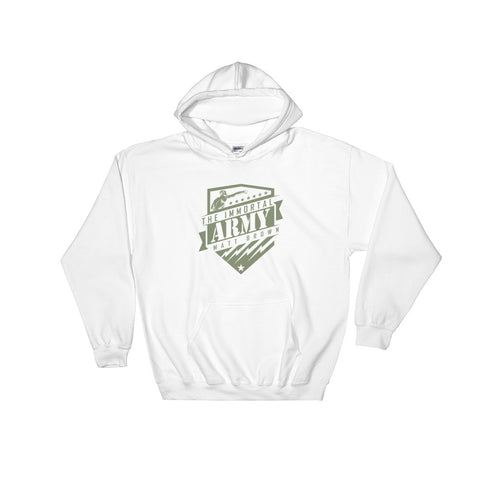 ufc matt brown shield hoodie sweatshirt white immortal