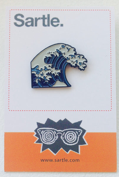 Hokusai Wave Pin