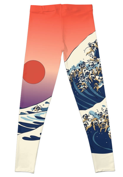 Pug Wave Leggings