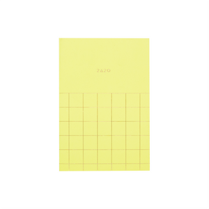 2020 12M GRID POCKET PLANNER BUTTER YELLOW - Hadron Epoch