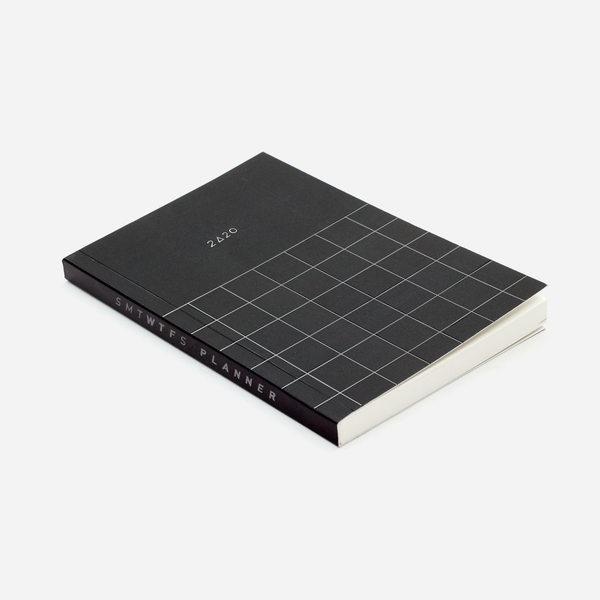 2020 12M GRID POCKET PLANNER MIDNIGHT BLACK - Hadron Epoch