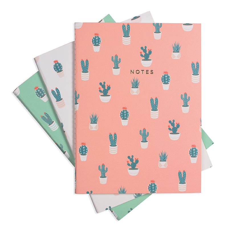 CACTUS LOVER NOTEBOOK (3/SET)