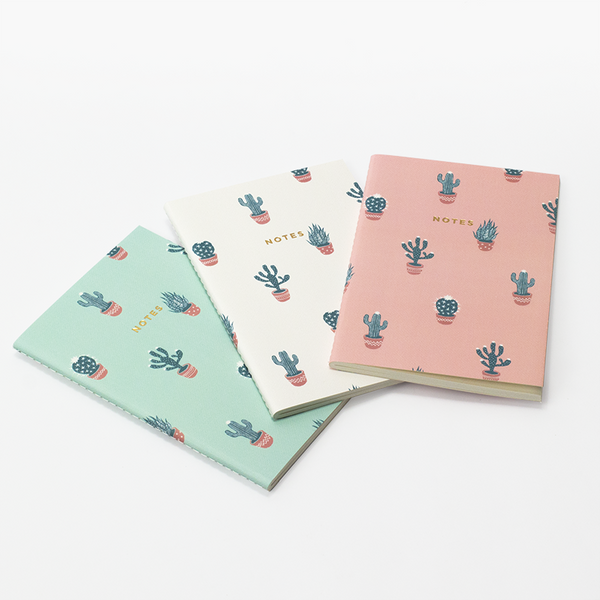 MINI CACTUS LOVER NOTEBOOK 3/SET - Hadron Epoch