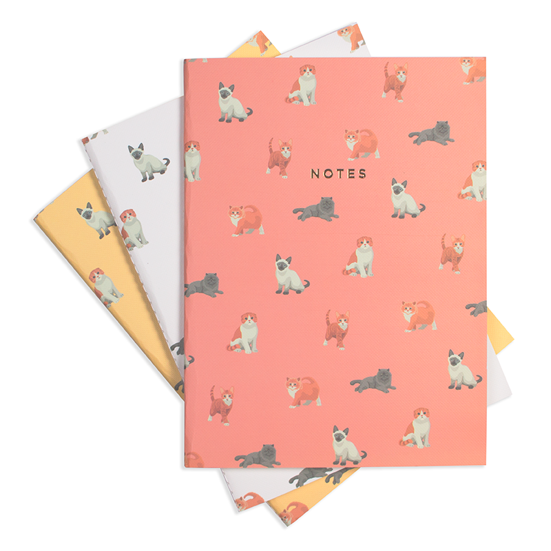 "MEOW MEOW NOTEBOOK (3/SET) 6"" x 8"""
