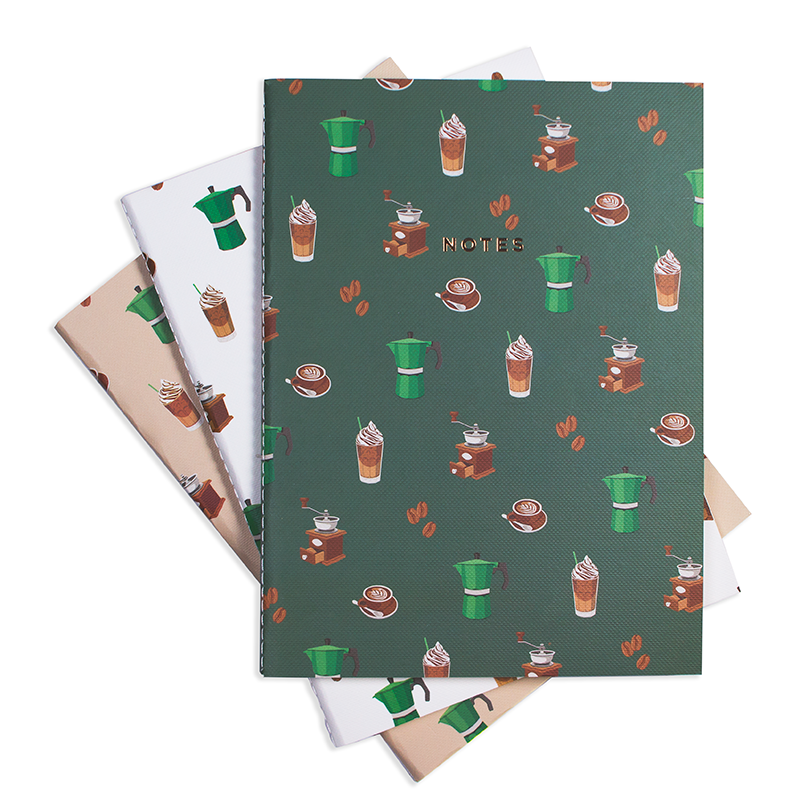 "COFFEE TIME NOTEBOOK (3/SET) 6"" x 8"""