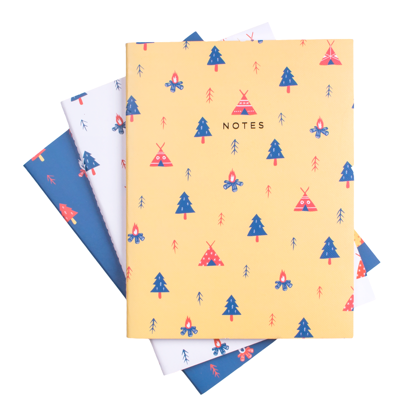 CAMPING NOTEBOOK 3/SET