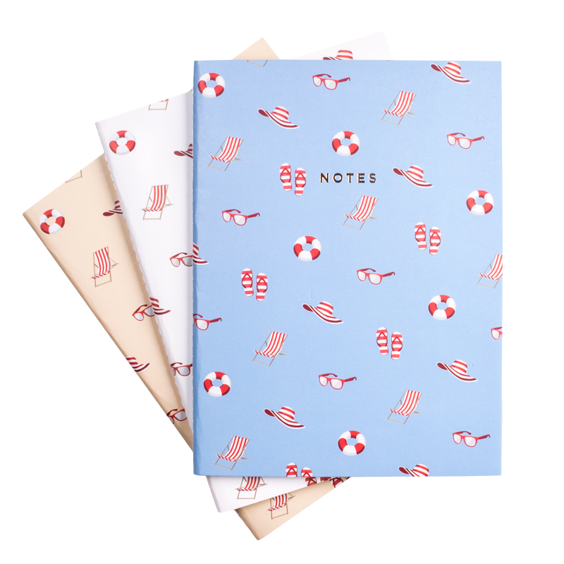BEACH NOTEBOOK 3/SET (S/L) - Hadron Epoch