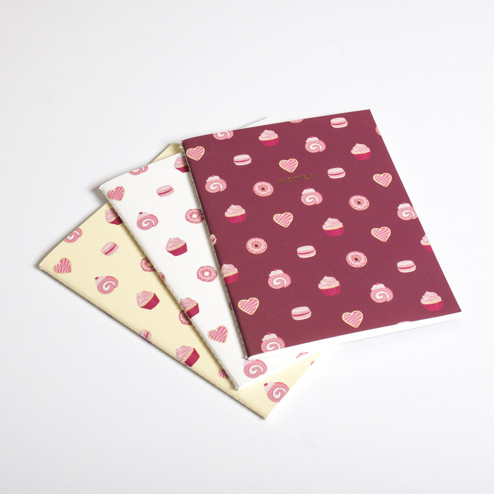 CAKE NOTEBOOK (3/SET) (SOLD OUT)