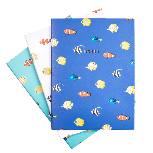 TROPICAL FISH NOTEBOOK SET (SOLD OUT)