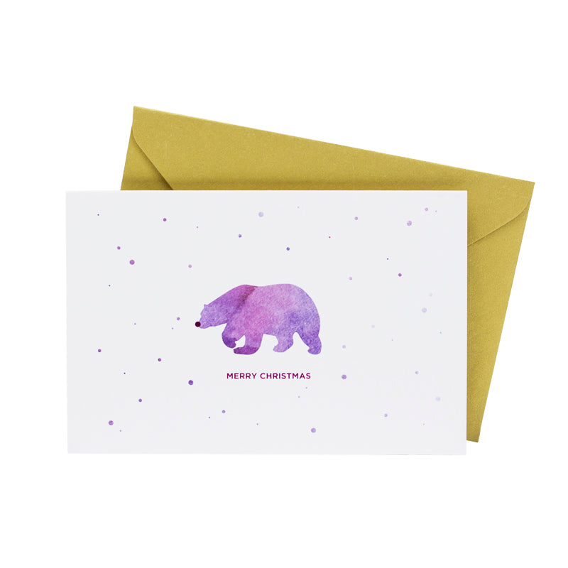 Watercolor Polar Bear (Single / Set of 10)