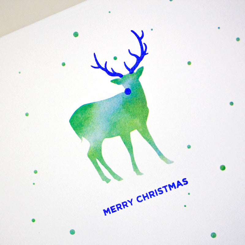 Watercolor Reindeer (Single / Set of 10)