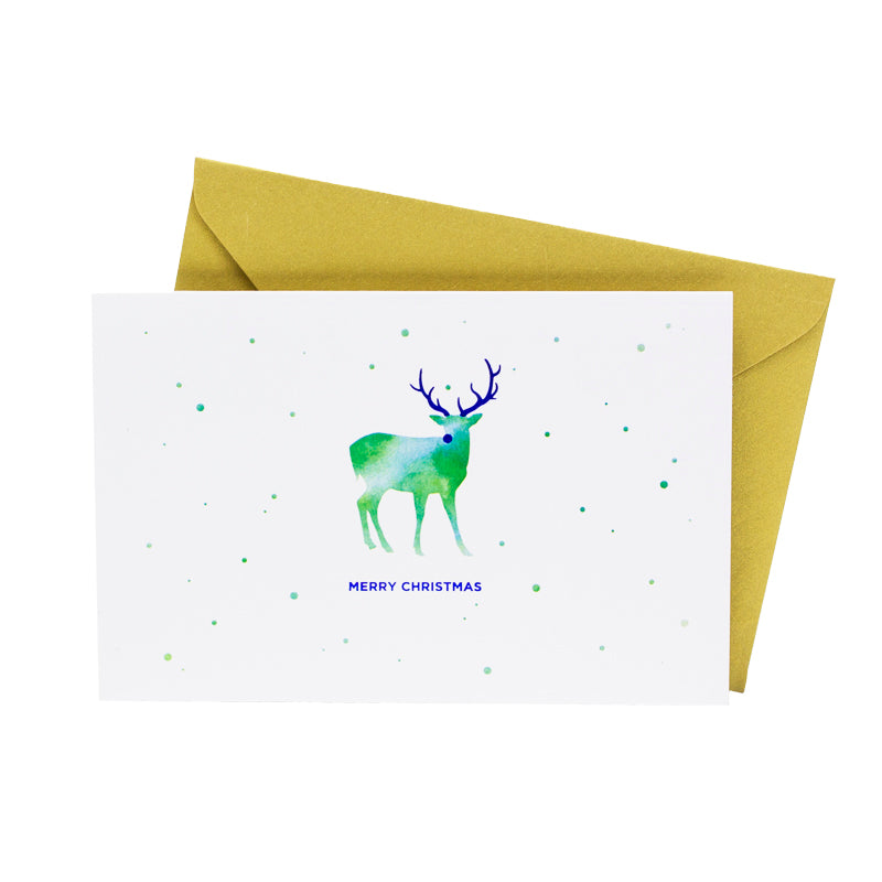 Watercolor Reindeer (Single / Set of 10) - Hadron Epoch