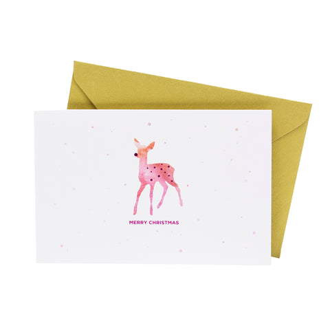 Watercolor Deer (Single / Set of 10) - Hadron Epoch