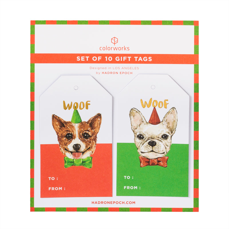 PARTY PUPPIES GIFT TAGS
