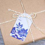 FINE CHINA BLUE FLORAL GIFT TAGS