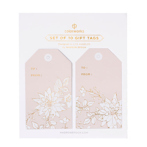 PAINTED SOFT PINK FLORAL GIFT TAGS - Hadron Epoch