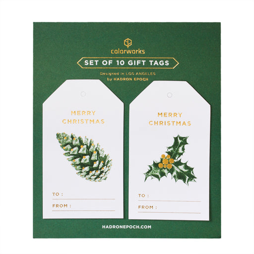 GREEN XMAS ORNAMENTS GIFT TAGS - Hadron Epoch
