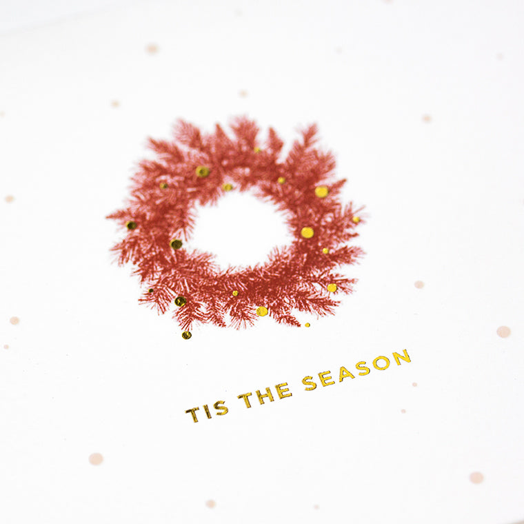 Tis the Season Wreath (Single / Set of 10)