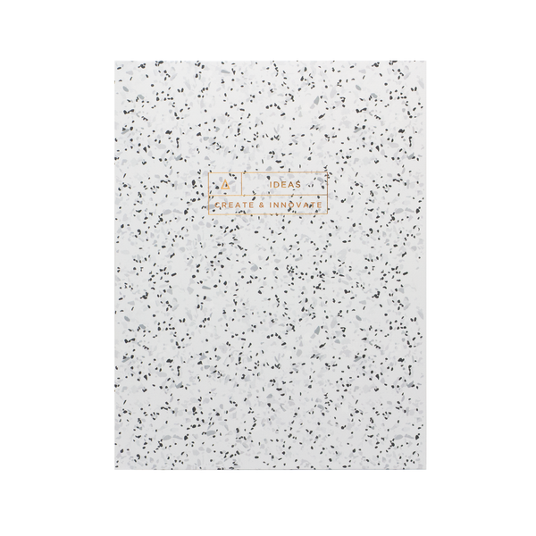 Stone Paper Ideas Notebook Curava Midnight (White) - Hadron Epoch
